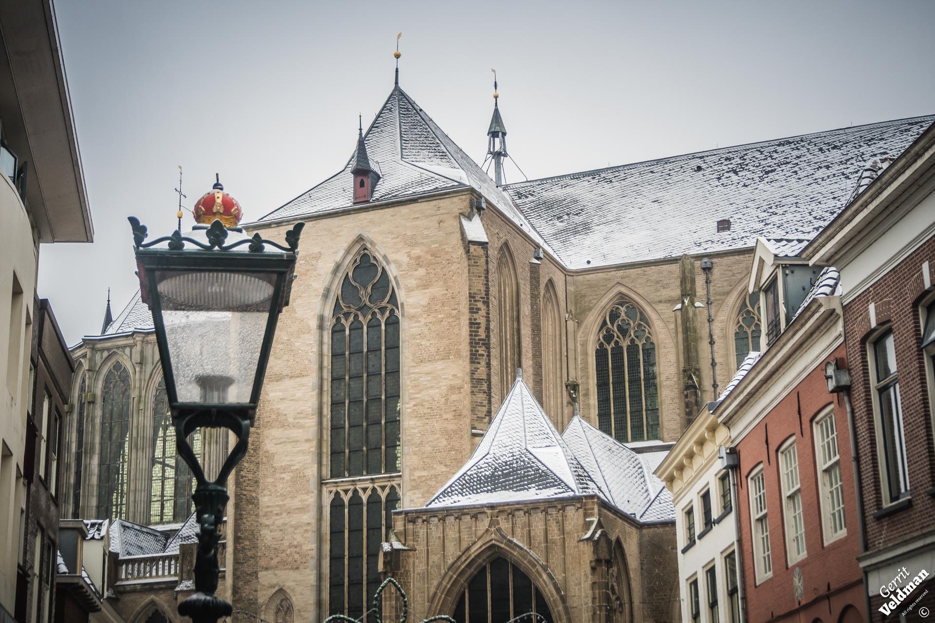 Sneeuw op de Bovenkerk