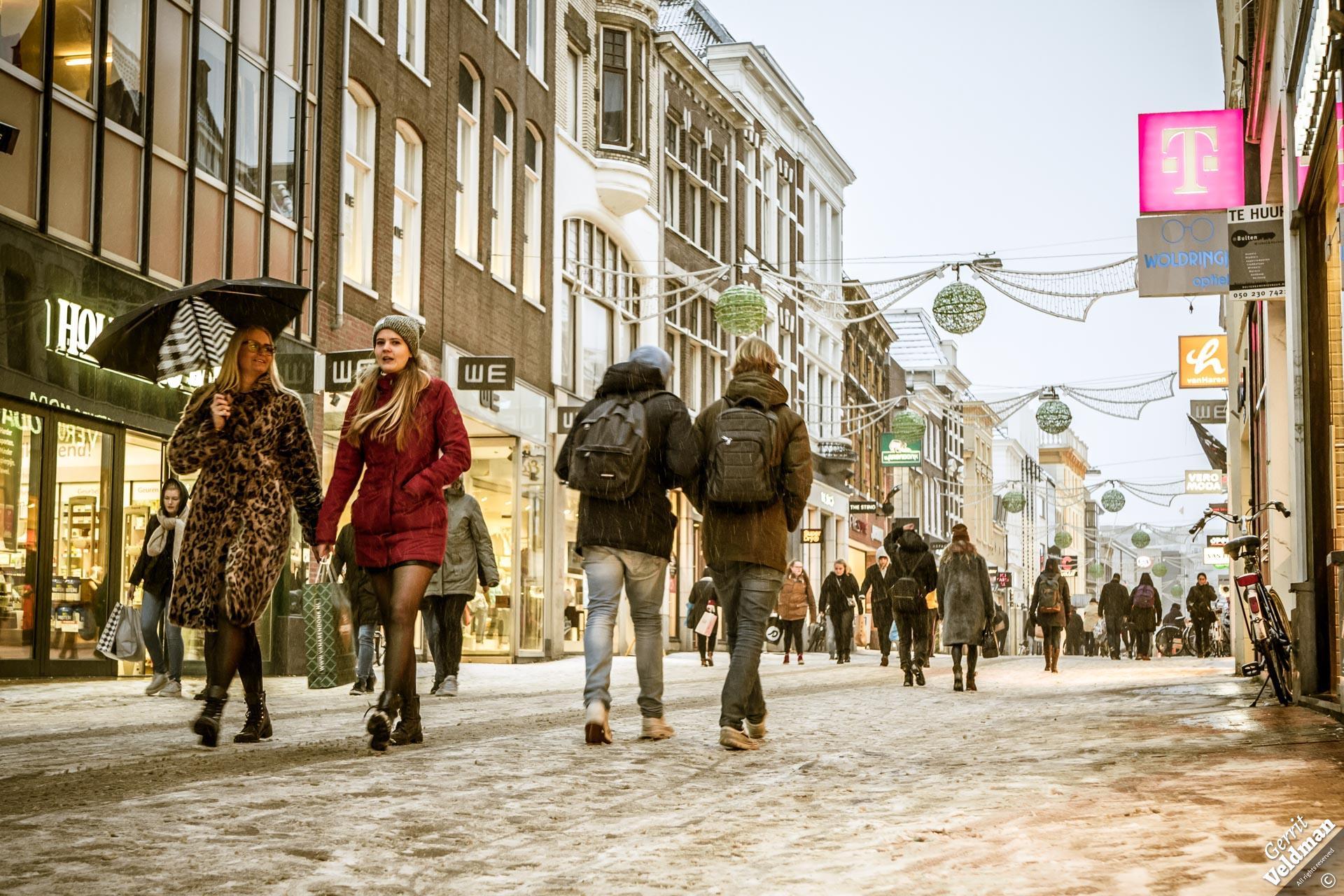Sneeuwbui in Groningen