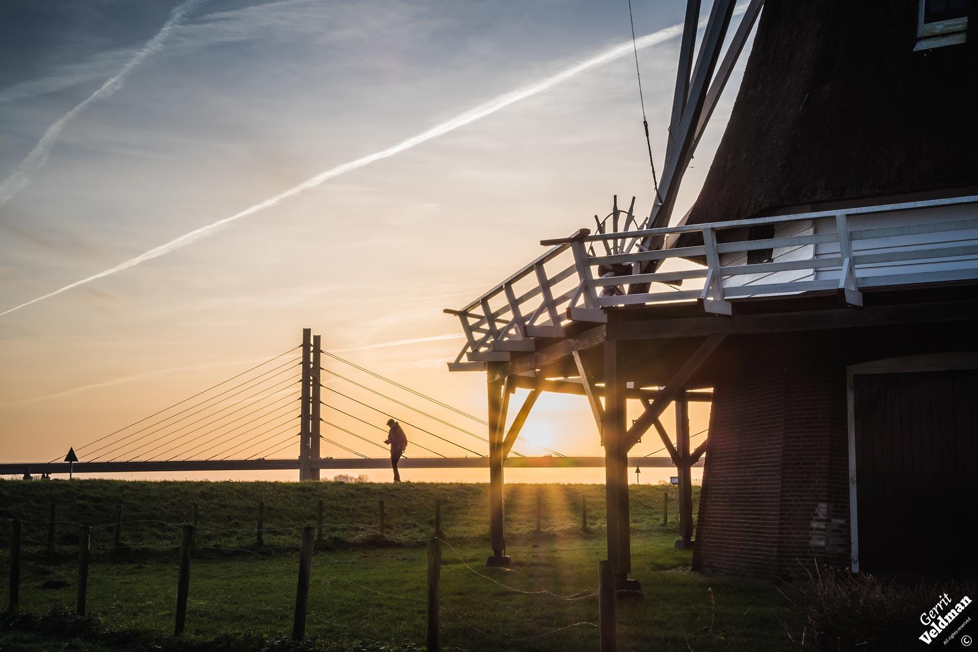 Zonsopgang bij de molen