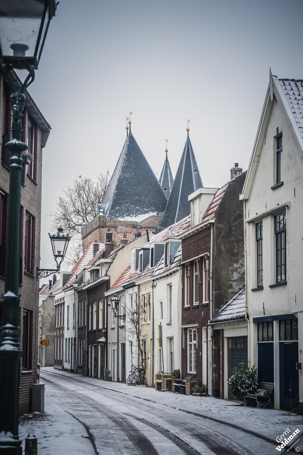 Sneeuw in de Prinsenstraat