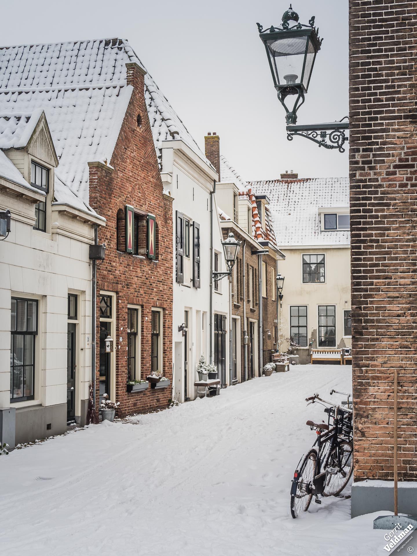 Sneeuw in de Keizerstraat