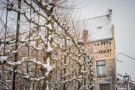 Muurreclame in de Oudestraat