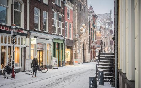 Sneeuw in de Oudestraat