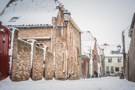 Sneeuw in het Achterom