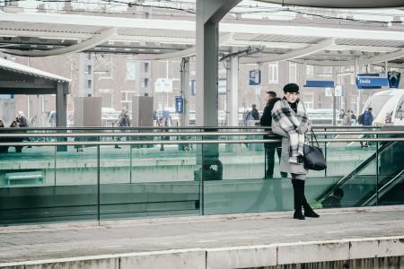 Wachten op de trein