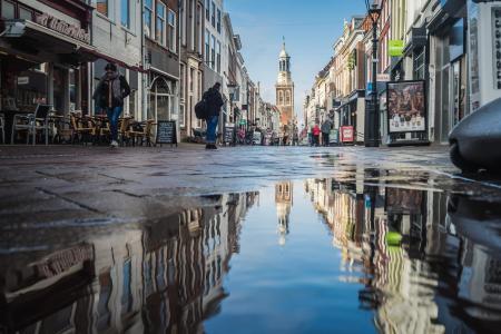 Regenplas in de Oudestraat
