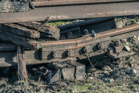 Oude spoorrails