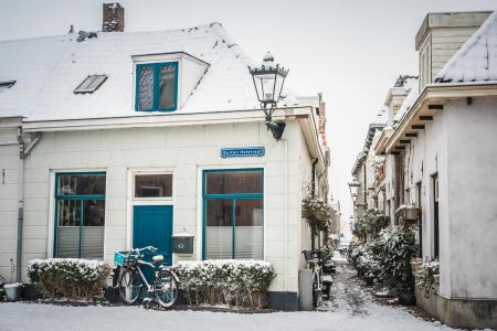 Sneeuw in de Buiten Hofstraat